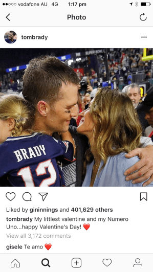 Tom Brady instagram