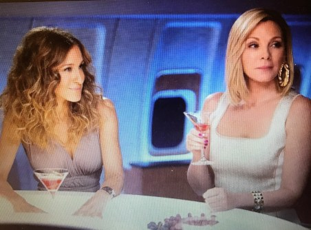 SATC Cosmo on a plane