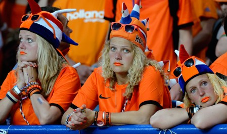 Sad Dutch soccer fans
