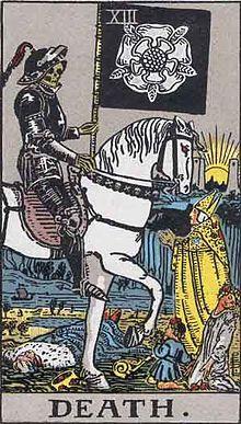 イメージ画像:タロットカード 大アルカナ XIII:死神(The Death)ー 正位置 意味:終末、ターニングポイント