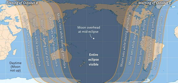 イメージ画像:Total lunar eclipse あなたをスキャンし映し出す皆既月食