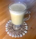 vegan lactation milk in glass