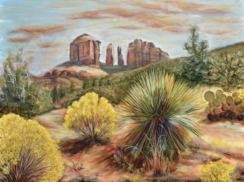 yucca at cathedral rock, sedona, arizona - shakti sarkin