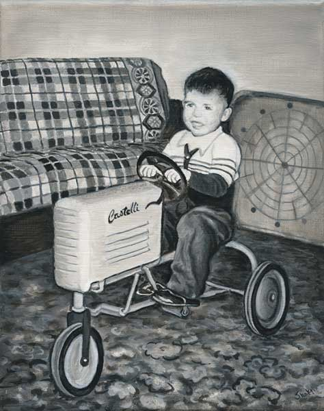 BOY WITH A TRACTOR