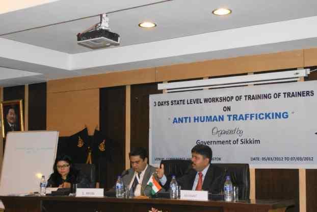 Shri Ravi Kant President Shakti Vahini addressing the Sikkim AHTU Consultation (5-7 March 2012)