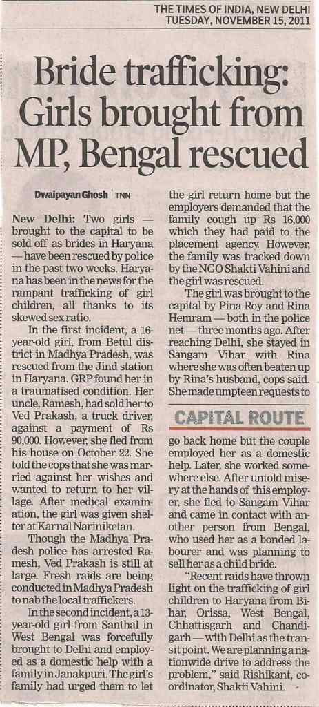 Girls for Forced Marriages Rescued