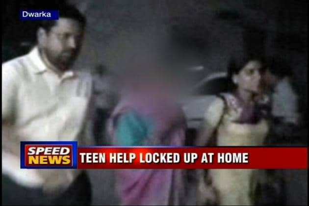 Delhi: Teenaged help found locked up with bruises
