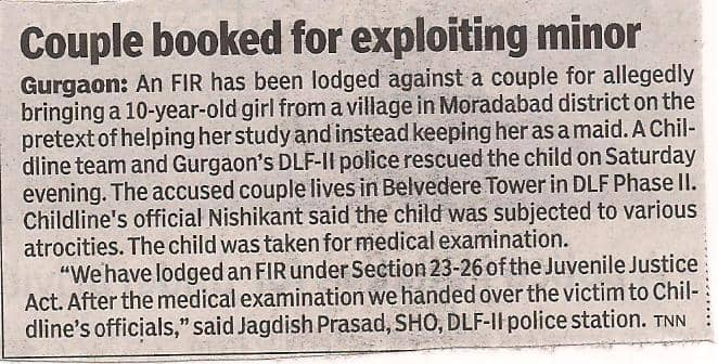 Couple booked for exploiting a child