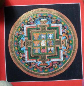 Asthamangala Mandala Tibetan Thangka