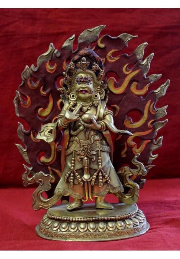 gold buddha statue for sale mahankala wrathful tibetan deity for home