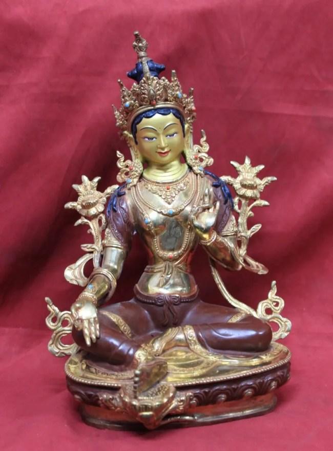 Green Tara Goddess Statue