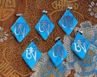 Tibetan om pendants