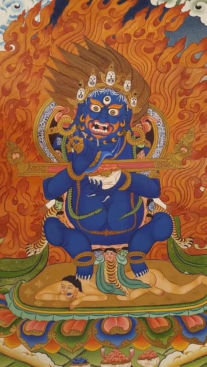 mahankala thangka buddhist painting