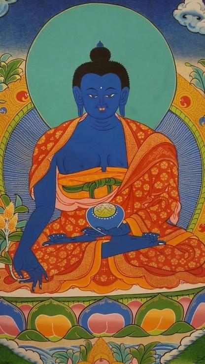 medicine buddha thangka buddhist painting