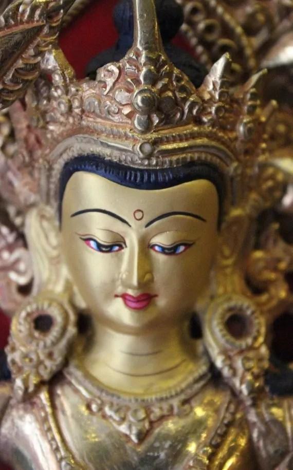 manjushri statue face