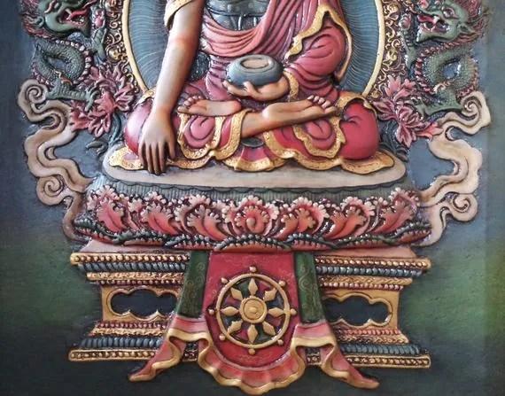shakyamuni buddha relief thangka base