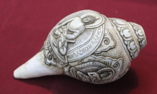 Five dhyani buddha conch shell shankha