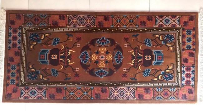 Tibetan rug mandala horizontal