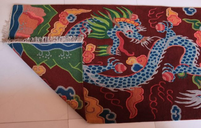 tibetan rug dragon carpet backview