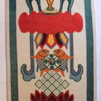 Tibetan rug Eight Auspicious symbol