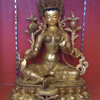 Green Tara Golden Statue