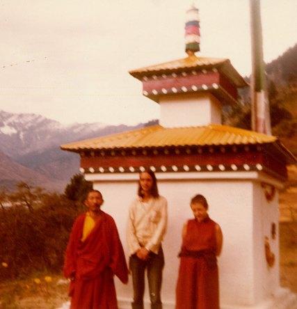 Tsultrim Allione and lama Gegen Khyentse