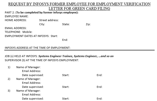 Obtaining infosys employment verification letter shalady the request for validation was sent to 2 of them you can use approximate start and end dates as it would be difficult for anyone to remember these for spiritdancerdesigns Images