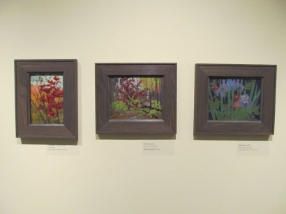 "Tom Thomson paintings of flowers. The one on the far right is titled ""Wildflowers"""