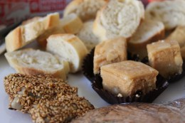 Tunisian cookies and baguette bites