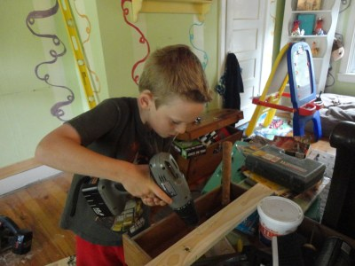 building with power tools