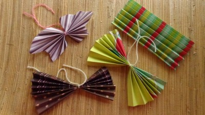 From Shalave.com, accordian folded butterflies tutorial