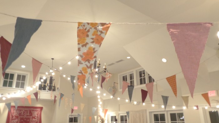brighter pennants and lights