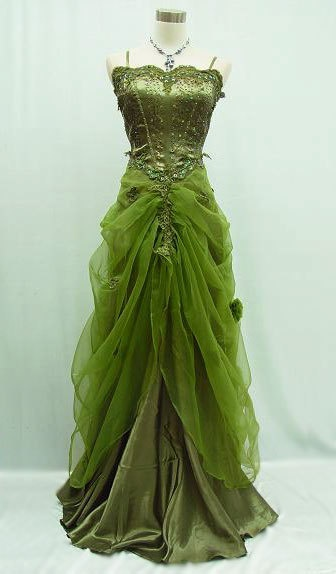 green ball gown via shalavee.com