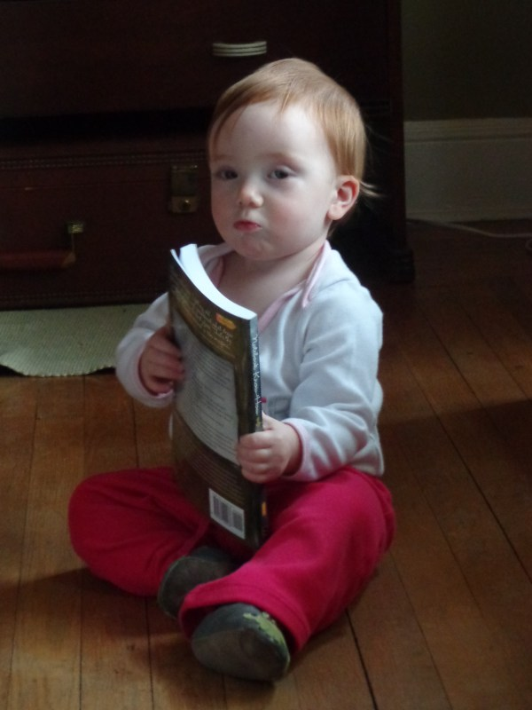 Fiona reading a book on Shalavee.com
