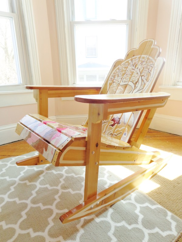 Oh, Promise Me!, decoupaged Adirondack rocking chair on Shalavee.com