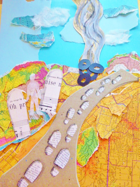 Apocalyptic world from  The Leaving, collage by Shalagh for We Are the Contributors on Shalavee.com