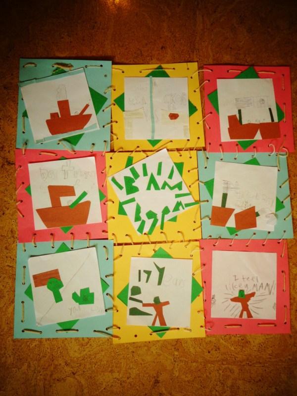 Pop Pop's paper quilt