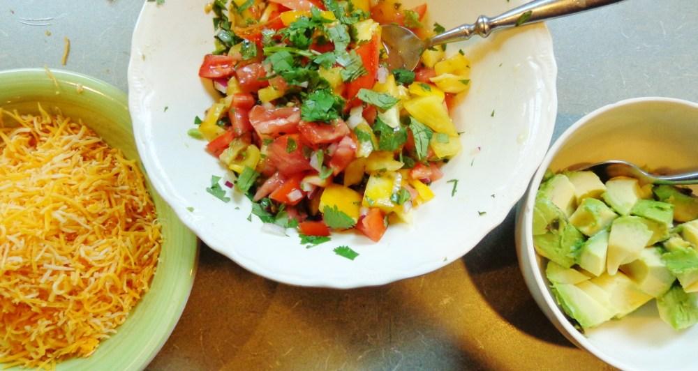 Homemade salsa fresca with the homemade tacos on Shalavee.com