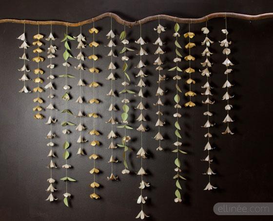 flower vertical garlands from Shalavee.com