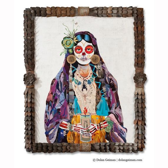 Dolan Geiman, Señorita made with vintage collage on Shalavee.com
