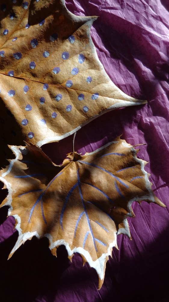 painted leaves  on Shalavee.com