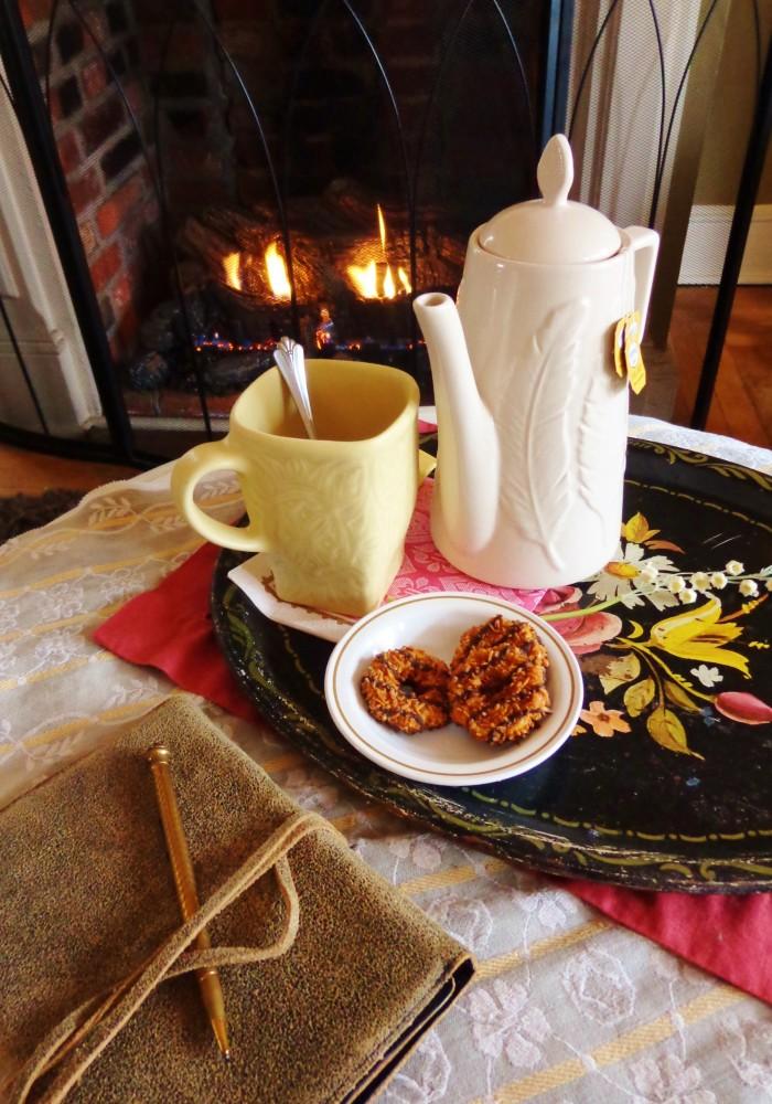 Styled tea tray on Shalavee.com
