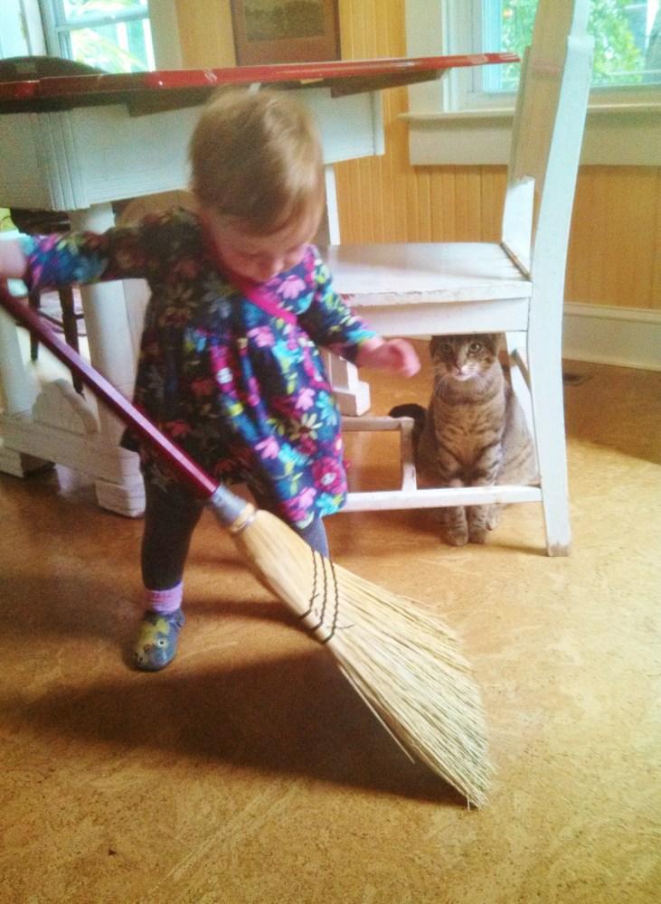 Fiona and her broom on Shalavee.com