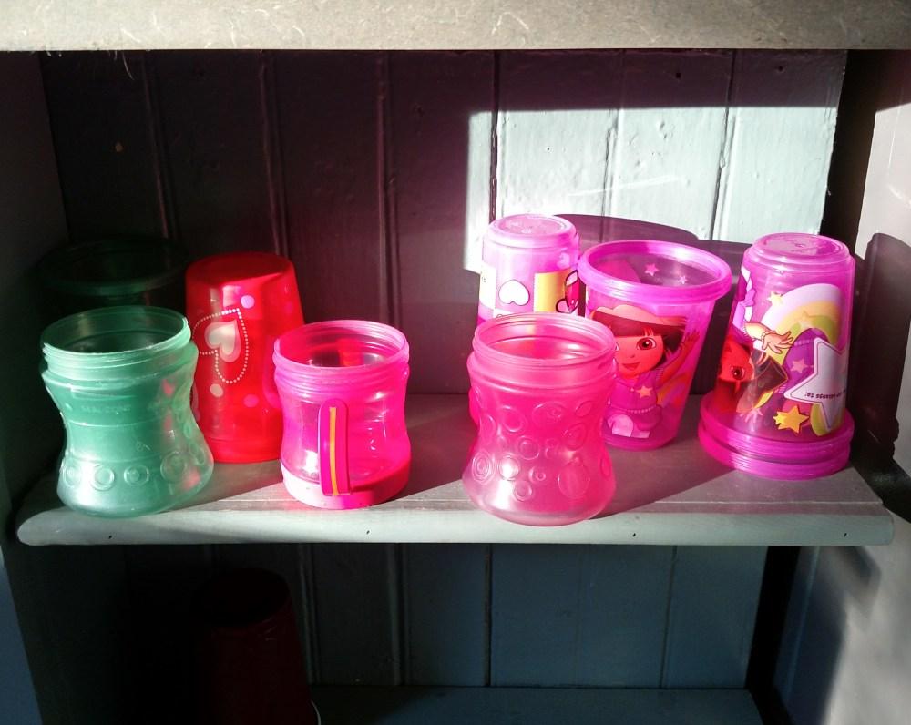 Sippys on a shelf on Shalavee.com