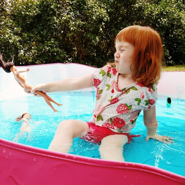 In the pool with Barbie on Shalavee.com