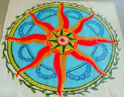 Finished Floor cloth for summer solstice service on Shalavee.com