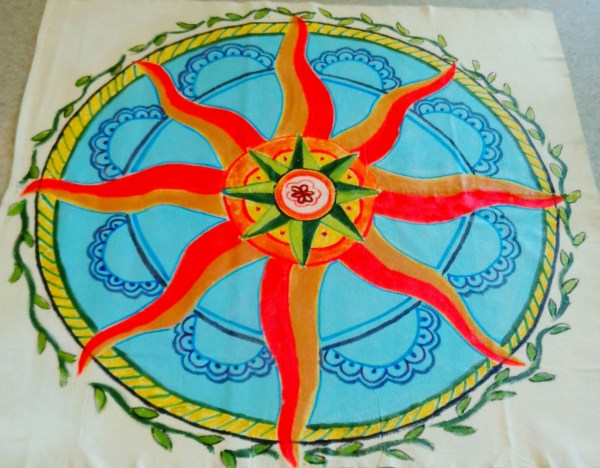 Finished Floor cloth for summer solstice service on Shalavee.com
