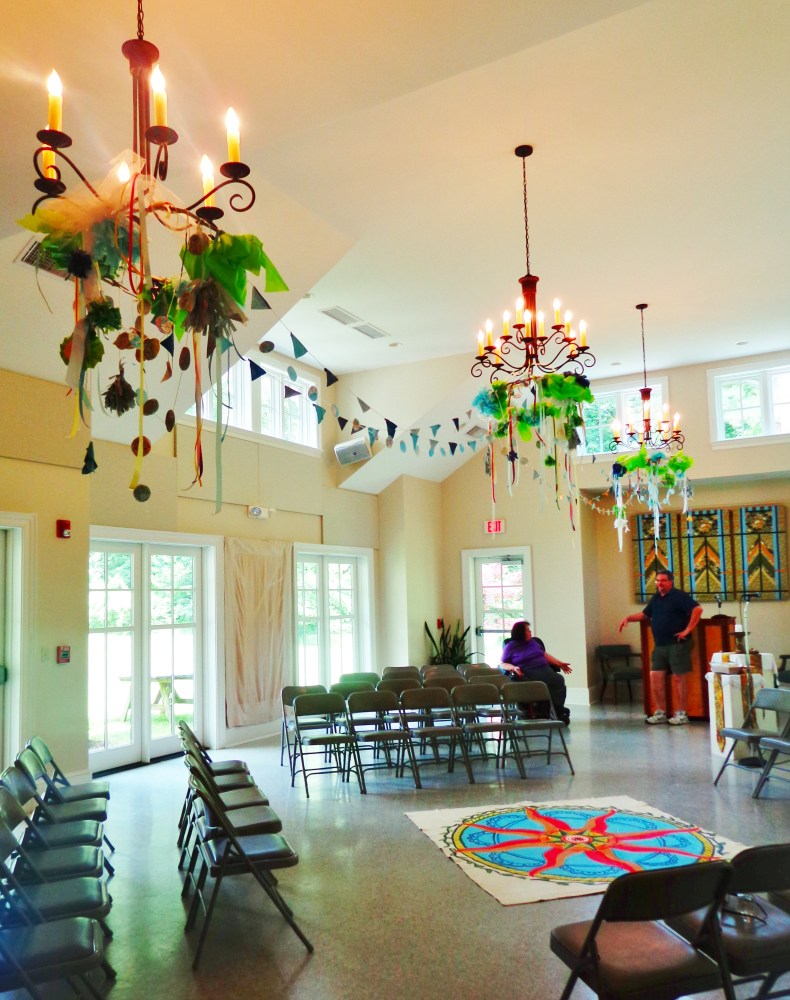 Chandelier decorations for the Summer solstice service on Shalavee.com