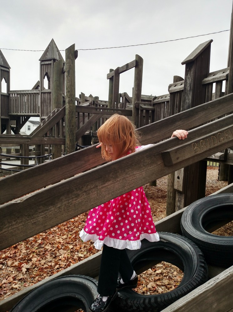 Minnie at the playground on Shalavee.com