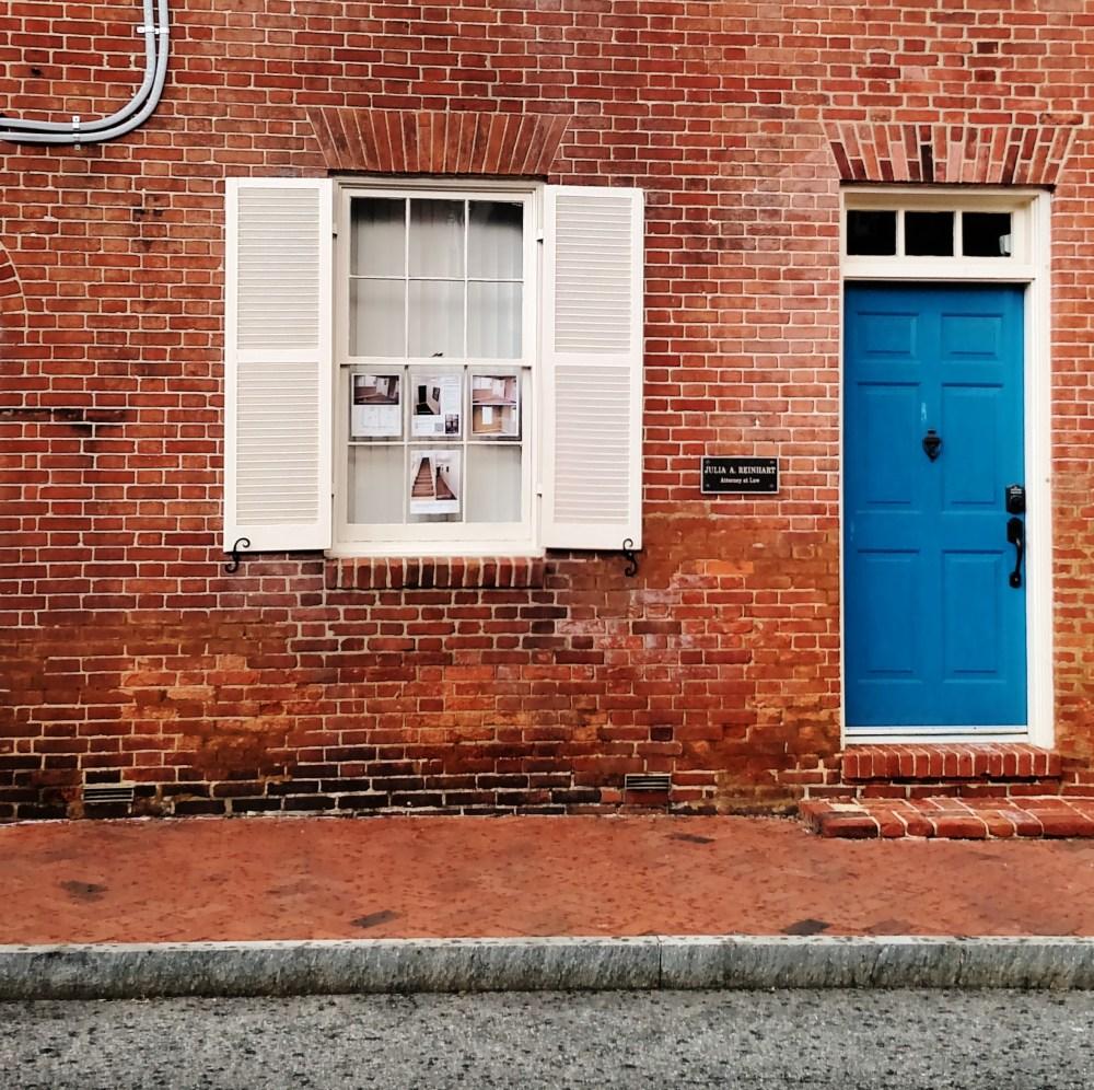 cobalt door in Annapolis for Blogging for self-esteem post on Shalavee.com
